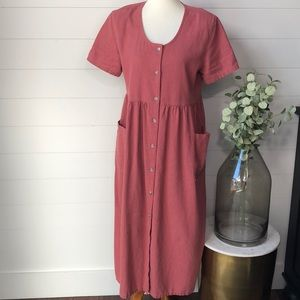 Vintage Prairie Linen Button Up Dress From Orvis
